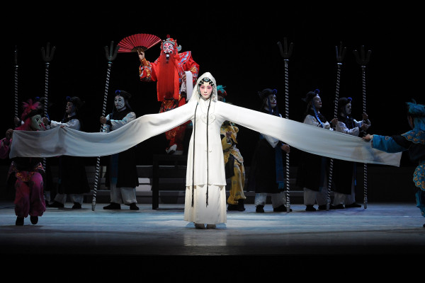 LONDON - JUNE 02:  Performers from the Suzhou Kunqu Opera Company of Jiangsu Province perform 'The Peony Pavilion - The Young Lover's Edition' at Sadler's Wells Theatre on June 2, 2008 in London, United Kingdom.  (Photo by Gareth Cattermole/Getty Images)